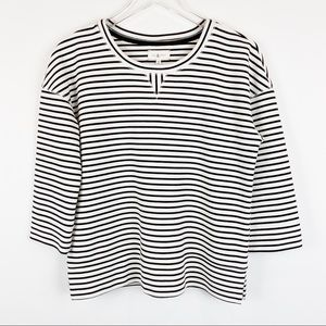 Lou & Grey Striped Sweatshirt - XS